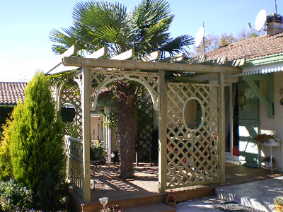 construction de pergolas sur mesure